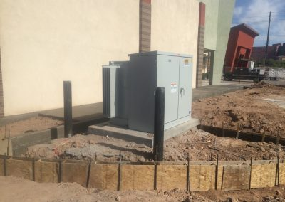 Site Progress with Electrical Box