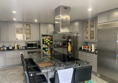 Image highlighting kitchen island in new remodel